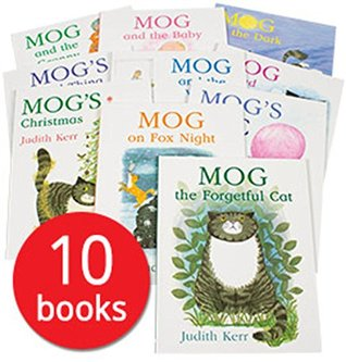 Judith Kerr Mog the Forgetful Cat Collection 10 Books Set