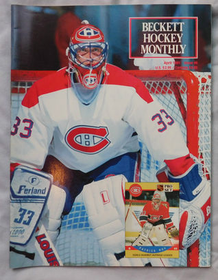 1991 Beckett NHL Hockey Magazine #6 - Patrick Roy Montreal Canadien Goaltender Cover