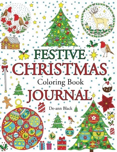 Festive Christmas Coloring Book Journal