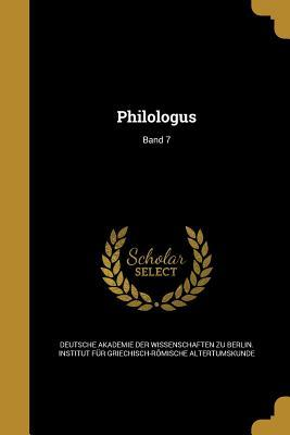Philologus; Band 7