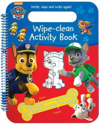 Nickelodeon PAW Patrol Wipe-Clean Activity Book: Write, Wipe and Write Again!
