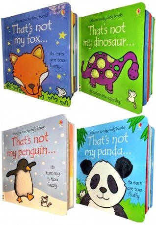 Toddlers Animals Collection Usborne Touchy-Feely 4 Books Set (Thats Not My Panda, Thats Not My Dinosaur, Thats Not My Penguin, Thats Not My Fox)