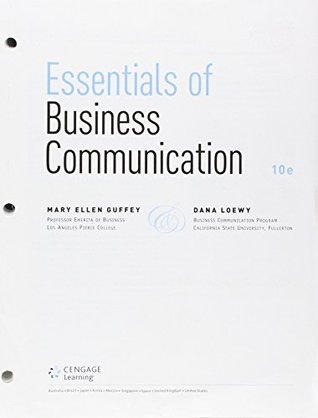 Bundle: Essentials of Business Communication, Loose-Leaf Version, 10th + Premium Website, 1 term (6 months) Printed Access Card + ApliaTM, 1 term Printed Access Card