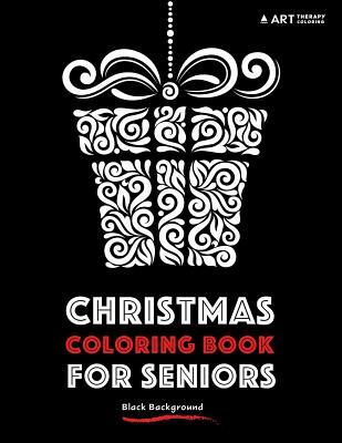 Christmas Coloring Book for Seniors: Black Background