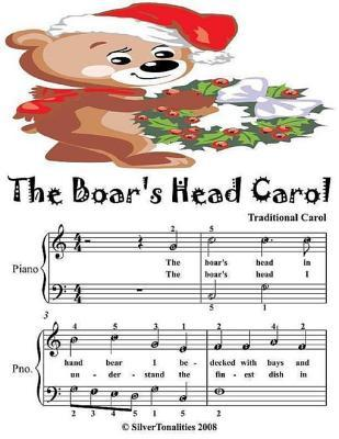 Boar's Head Carol - Easy Piano Sheet Music Junior Edition