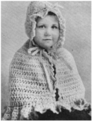 #2286 BABY CAPE VINTAGE CROCHET PATTERN