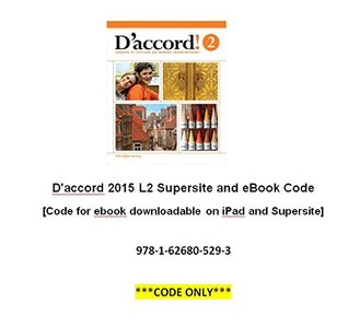 D'accord 2015 L2 Supersite and eBook Code [Code for ebook downloadable on iPad and Supersite]