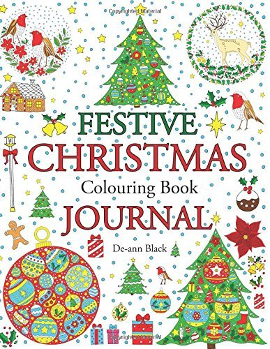 Festive Christmas Colouring Book Journal