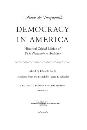 Democracy in America: Historical-Critical Edition