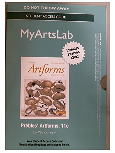 New Mylab with Pearson Etext -- Standalone Access Card -- For Prebles' Artform