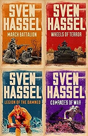 Sven Hassel 4 Book set collection March Battalion, Wheels of Terror, Legion of the Damned & Comrades of War