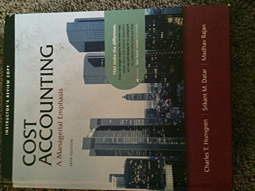 Instructor's Review Copy for Cost Accounting