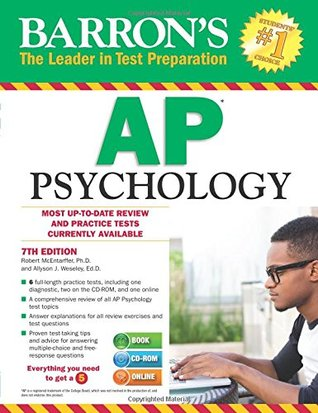 Barron's AP Psychology with CD-ROM, 7th Edition (Barron's AP Psychology Exam
