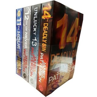 James Patterson Collection Women's Murder Club 11-14 4 Books Bundle (11th Hour, 12th of Never, Unlucky 13, 4th Deadly Sin)