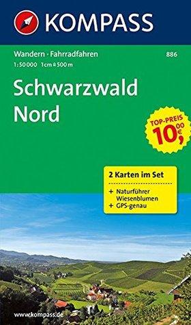 Schwarzwald Nord 886 GPS wp 2-set kompass + Natuurgids