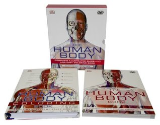 The Human Body w/DVD. Complete Illustrated Guide and Anatomy Coloring Book 2-Volume Box Set, Including full-color fold-out poster