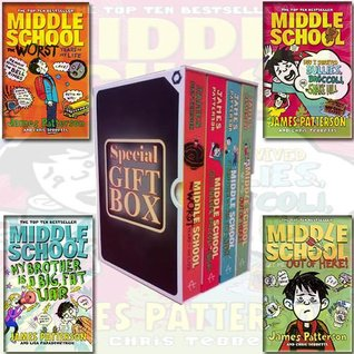 James Patterson Collection Middle School Series 4 Books Bundle Gift