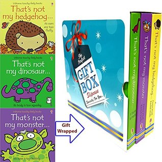 Usborne Books Set (That's Not My Hedgehog, That's Not My Monster, That's Not My Dinosaur) By Fiona Watt 3 Books Bundle Gift Wrapped Slipcase Specially For You