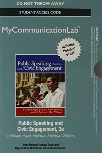 NEW MyCommunicationLab with Pearson eText -- Standalone Access Card -- for Public Speaking and Civic Engagement (3rd Edition)