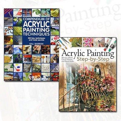 Acrylic Painting Techniques 2 Books Bundle Collection