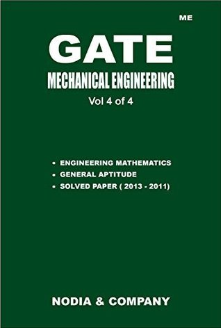 GATE Mechanical Engineering Vol 4 (GATE 2014 Mechanical by NODIA 4 Volume Set)