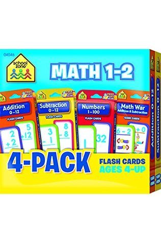 Math 1-2 Flash Card 4-Pack