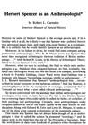 Herbert Spencer as an Anthropologist