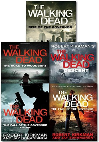 The Walking Dead Series 5 Books Collection Set Rise of the Governor, The Fall of the Governor Part One, The Fall of the Governor (Zombies Walking Dead Governor Series