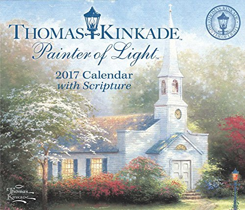 Thomas Kinkade Painter of Light with Scripture 2017 Day-To-Day Calendar