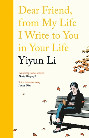 Illustrated book cover showing author on a bench outside.