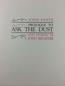 "Prologue to ""Ask the Dust"""