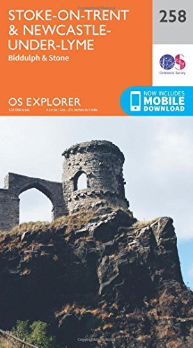 OS Explorer Map (258) Stoke-on-Trent and Newcastle Under Lyme