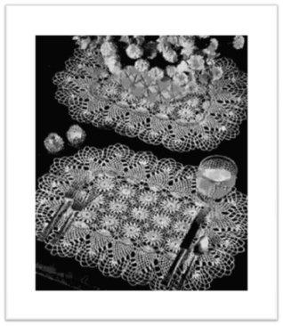 #2348 PINEAPPLE BUFFET SET VINTAGE CROCHET PATTERN