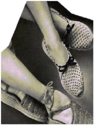 #0729 PLAY SHOES VINTAGE CROCHET PATTERN