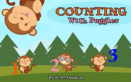 Children Books: Counting with Puggles (Learning To Count To Ten For Kids Ages 4-8) Kids Books - Learning To Count To 10 For Kids - Children's Books - Early lesson