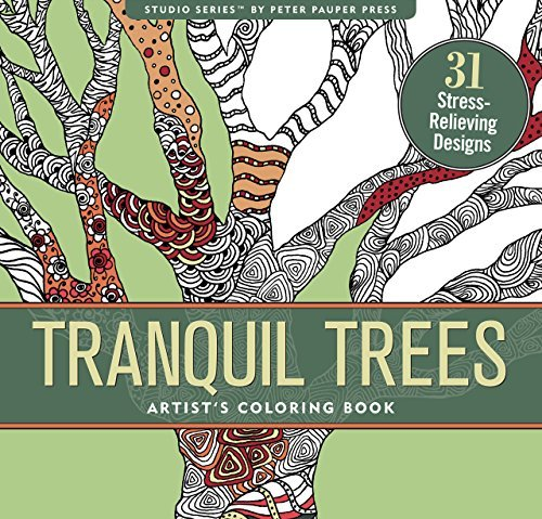 Tranquil Trees Adult Coloring Book