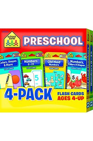 Preschool Flash Card 4-Pack