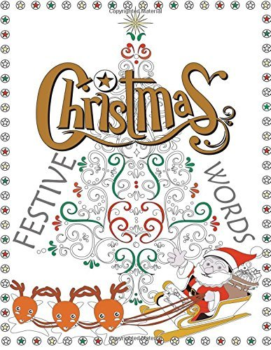 Adult Colouring Book: Festive Christmas Words
