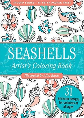 Seashells Portable Adult Coloring Book