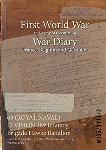 63 (ROYAL NAVAL) DIVISION 189 Infantry Brigade Hawke Battalion : 4 July 1916 - 24 May 1919 (First World War, War Diary, WO95/3114/2)
