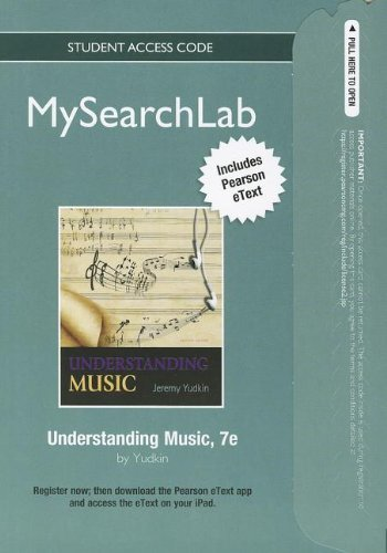 MySearchLab with Pearson eText -- Standalone Access Card -- for Understanding Music (7th Edition)