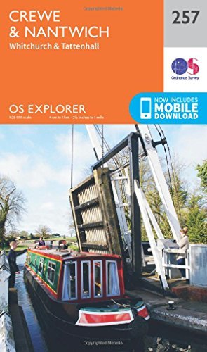 OS Explorer Map (257) Crewe and Nantwich, Whitchurch and Tattenhall
