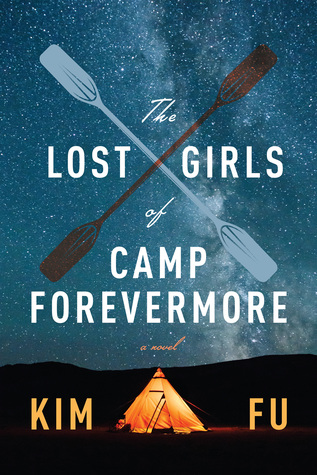 book cover of title framed by paddles and a tent under the stars