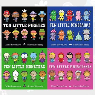 Mike Brownlow Ten Little Collection 4 Books Bundle (Pirates, Dinosaurs, Monsters, Princesses)
