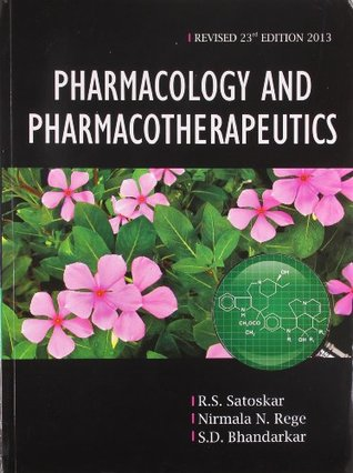 Pharmacology And Pharmacotherapeutics By Satoskar Pdf