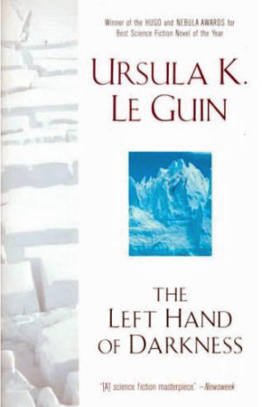 "Book cover of ""The Left Hand of Darkness"" by Ursula K. Le Guin"