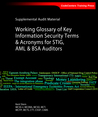 Working Glossary of Key Information Security Terms & Acronyms for STIG, AML & BSA Auditors