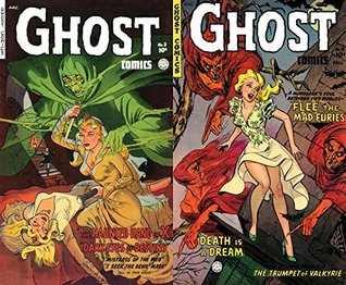 Ghost Comics. Issues 23 and 24. Includes haunted hand of x, dark eyes of destiny, flee the mad furies and death is a dream. Golden Age Digital Comics Paranormal, Horror Mystery