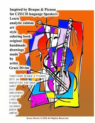 Inspired by Braque & Picasso for Czech Language Speakers Learn Analytic Cubism Art Style Coloring Book Original Handmade Drawings Made by Artist
