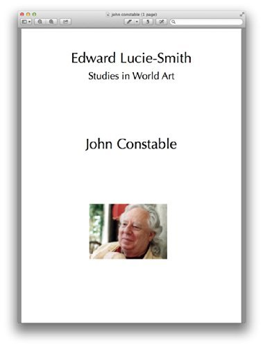 John Constable (Studies in World Art Book 39)